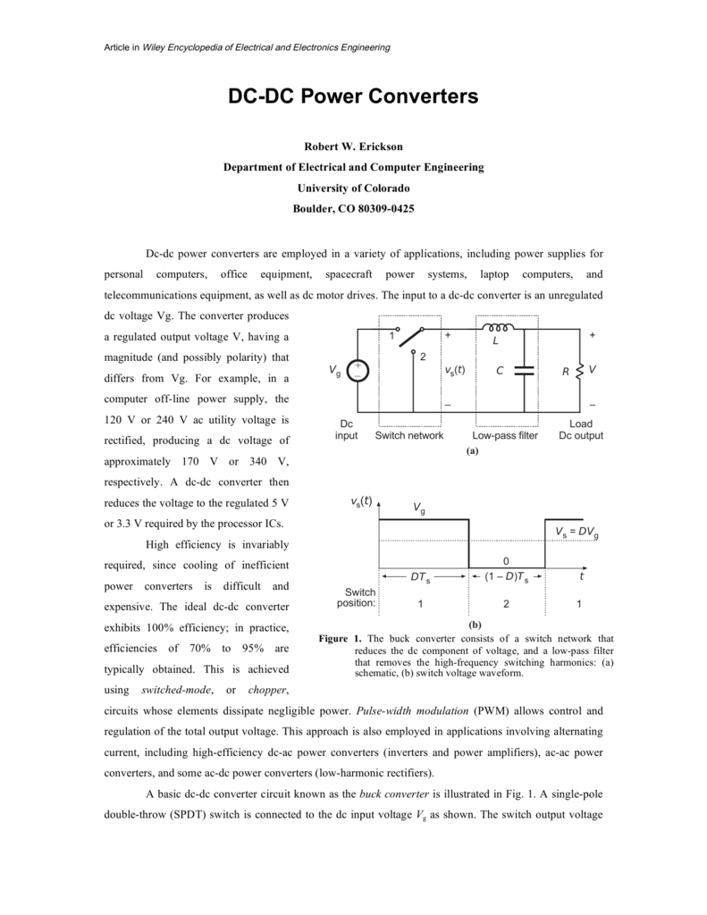 Dc Power Converters Simple Ac To Converter Circuit Diagram Electronic