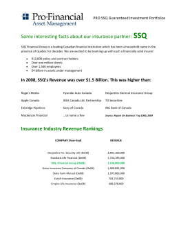 Some interesting facts about our insurance partner: SSQ Insurance