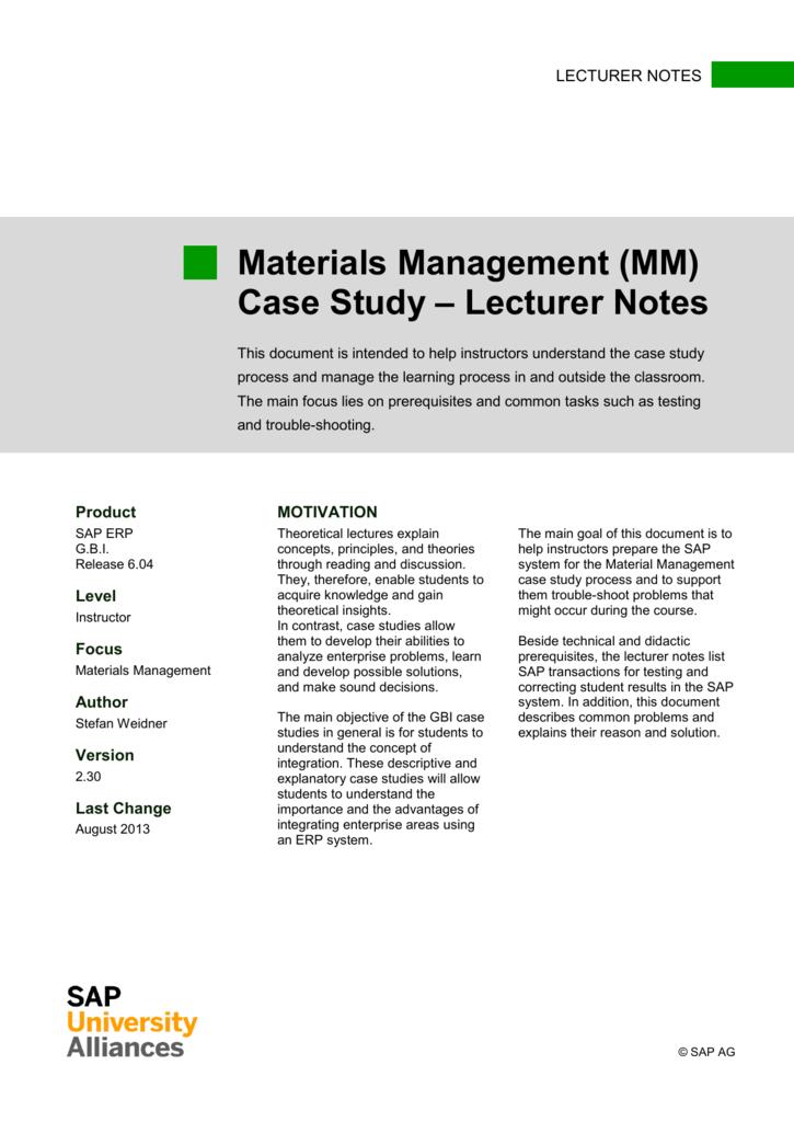 sap mm module study material
