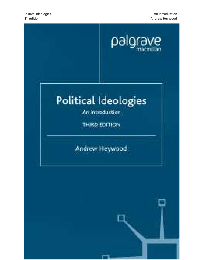 Political Ideologies An Introduction 3rd edition Andrew