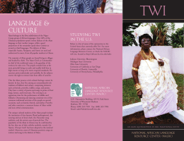 Twi - National African Language Resource Center