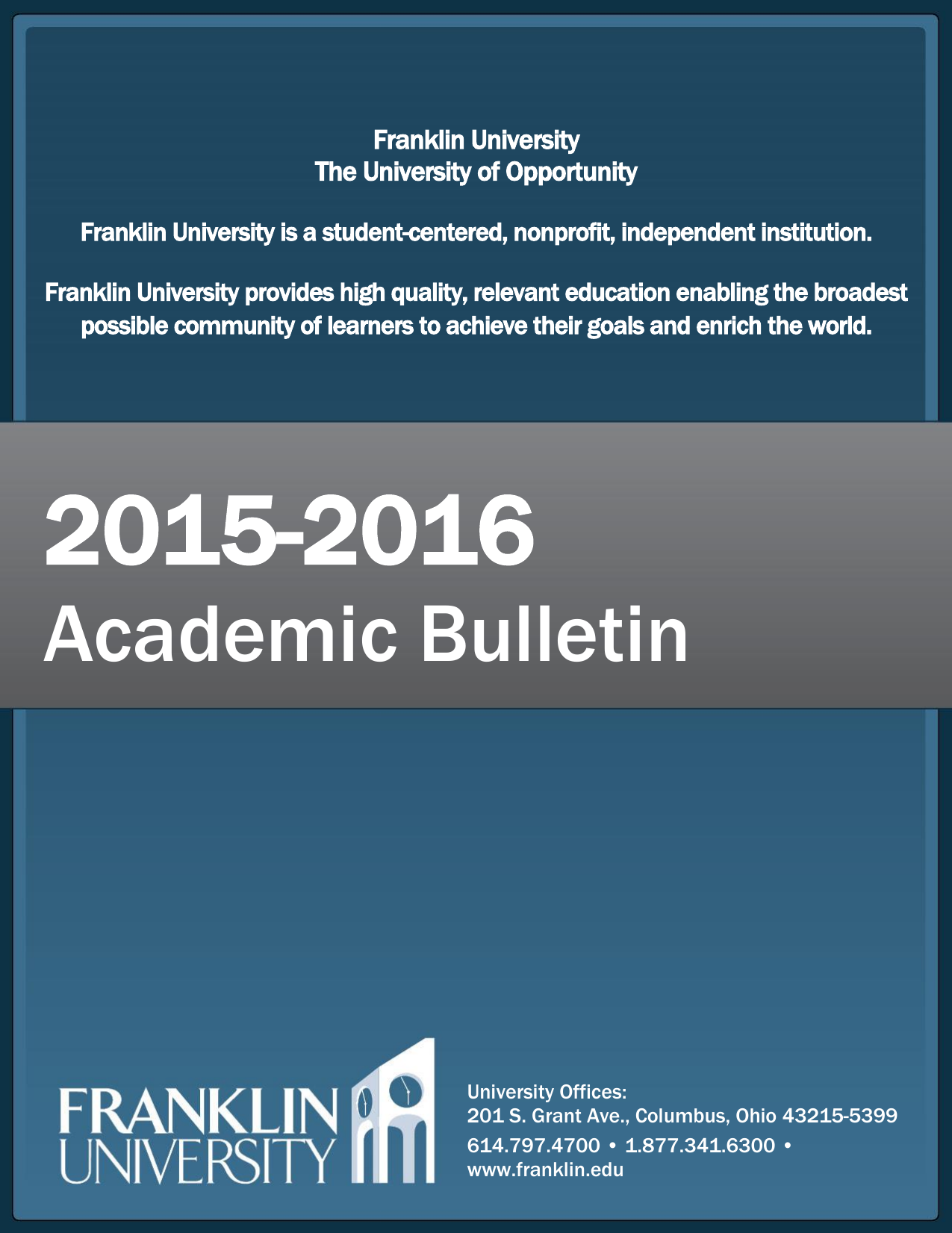 Academic bulletin franklin university fandeluxe Image collections