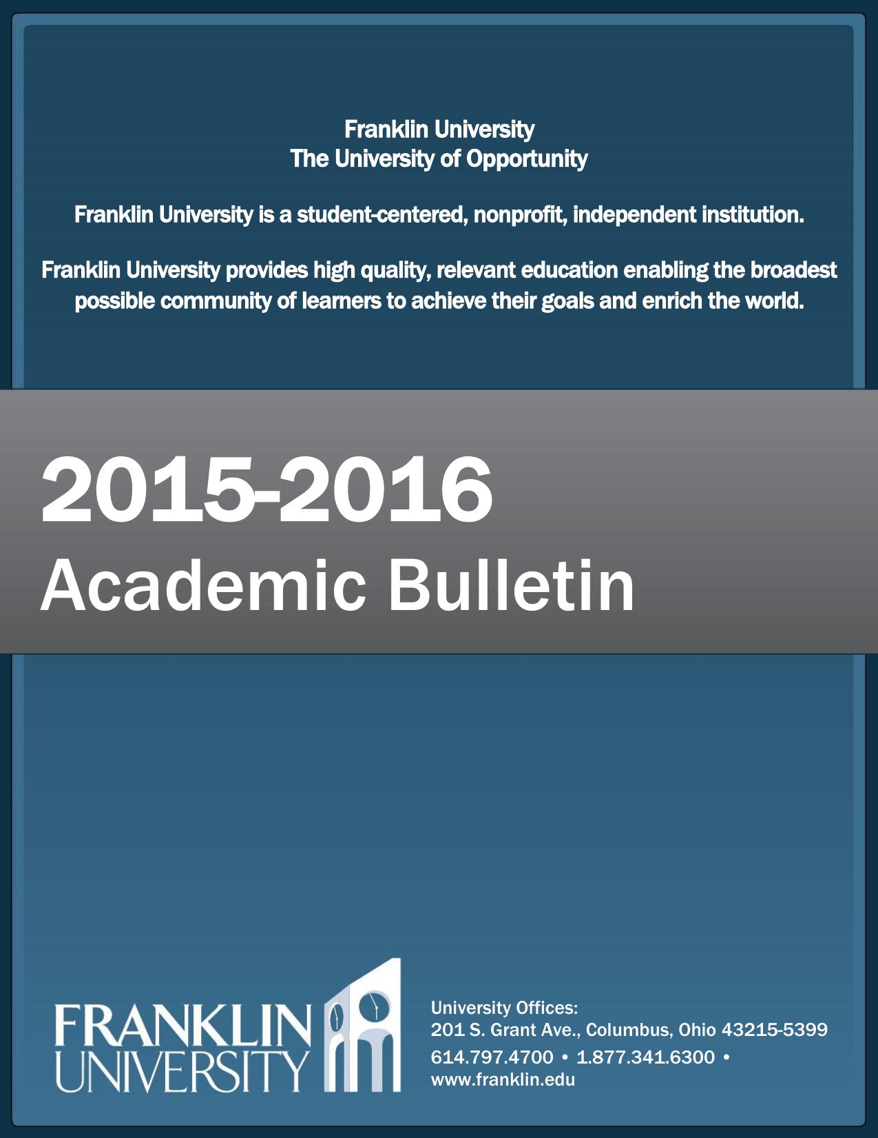 Academic bulletin franklin university fandeluxe Image collections