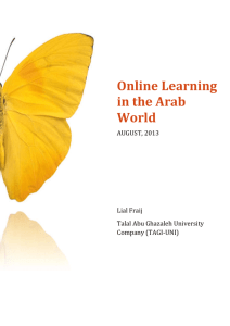 Online Learning in the Arab World