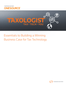Essentials to Building a Winning Business Case for Tax Technology