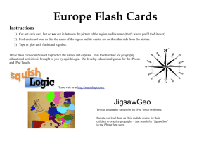 Europe Flash Cards