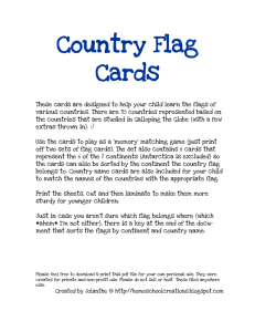 Country Flag Cards - Homeschool Creations