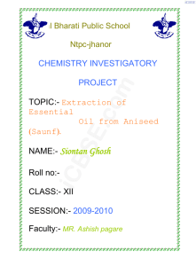 Chemistry Project for School Students by iCBSE