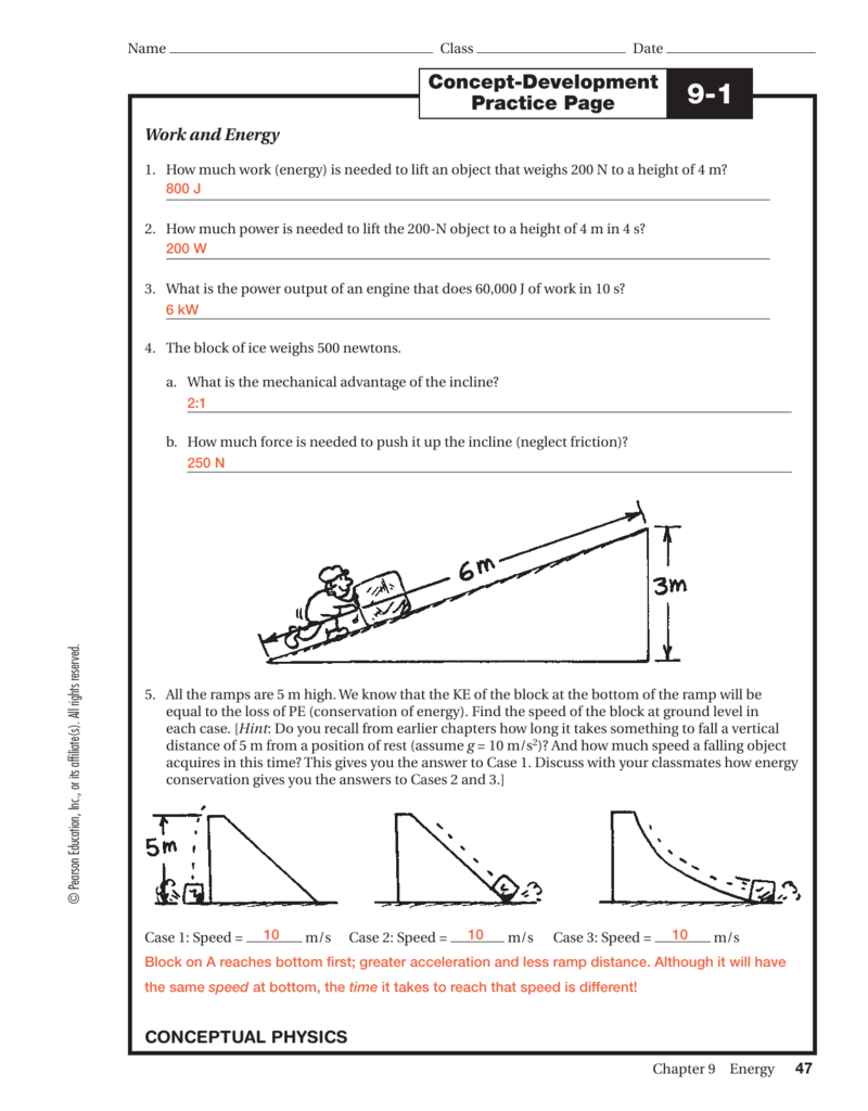 Conceptual physics practice page chapter 7 energy energy etfs energy changes from one form to another but the total amount of energy remains the same concept development practice page fandeluxe Image collections