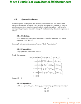 Game Theory homework solution, calss notes 21