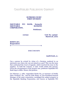 Equitable PCI Bank vs. Rosita Ku, G.R. No. 142950, 26 March 2001