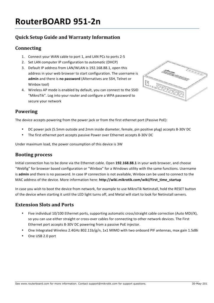 RouterBOARD 951-‐2n