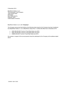 3 December 2014 BlackRock Holdco 5, LLC The Corporation Trust