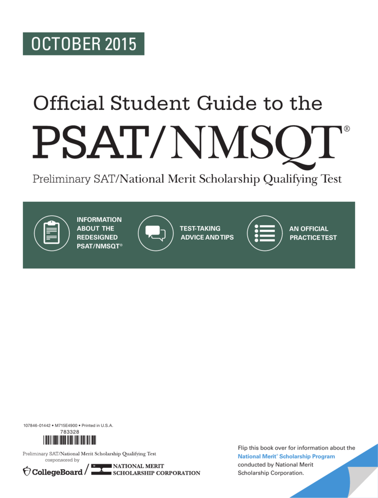 official student guide to the psat nmsqt rh studylib net College Board Logo PSAT Information for Students