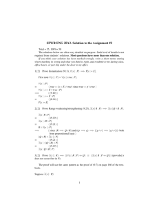 Solution of Assignment 2(New)