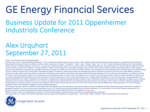 GE Energy Financial Services