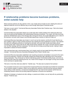 If relationship problems become business problems, enlist outside