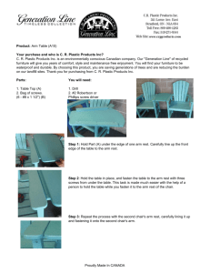 Arm Table Assembly Instructions