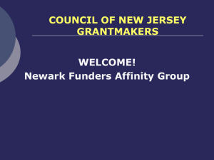 Newark Funders Affinity Group COUNCIL OF NEW JERSEY