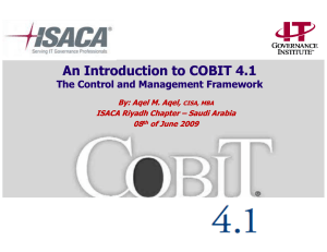 An Introduction to COBIT An Introduction to COBIT 4.1