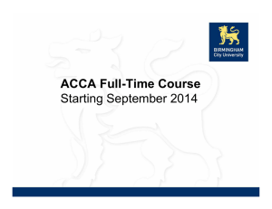 2  ACCA 2011 Syllabus Update - Pantelis Stylianides Institute of