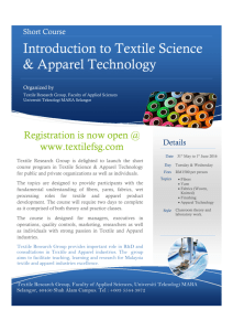 Introduction to Textile Science & Apparel Technology
