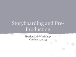 Storyboarding and Pre