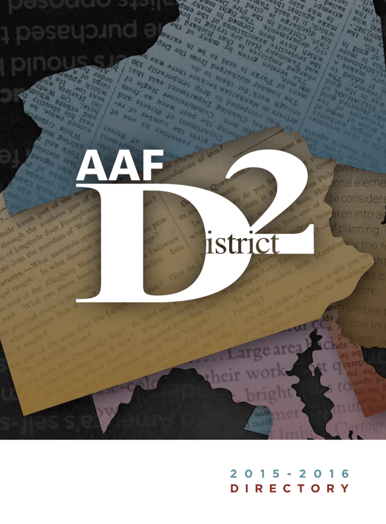 the 2015 – 2016 District Two Directory