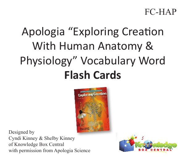 Apologia Exploring Creation With Human Anatomy Physiology