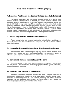 Handout for the Five Themes of Geography