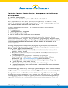 Optimize Project Management with Change