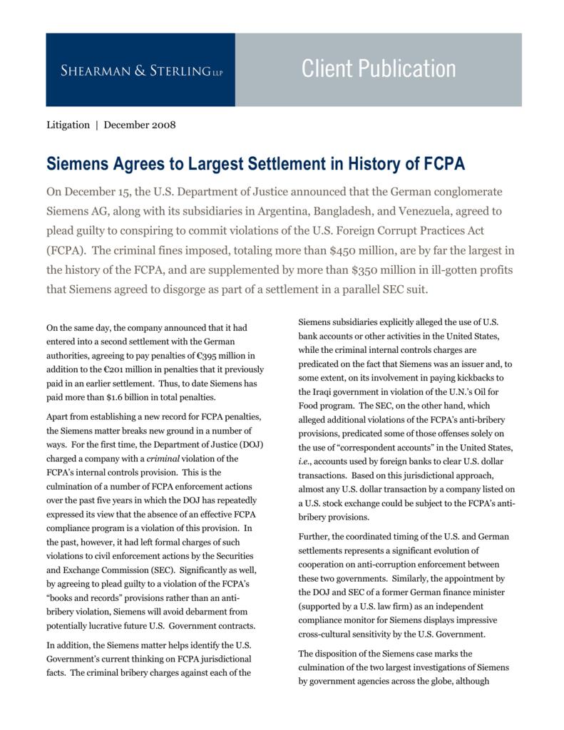 siemens fcpa case study