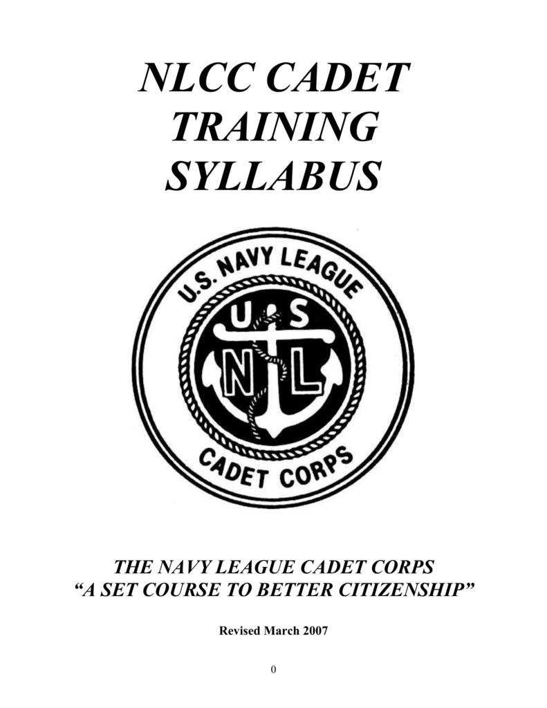 navy league cadet corps syllabus TV Actors