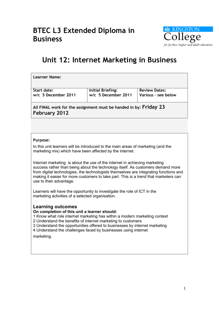 the role of internet marketing in a modern marketing context