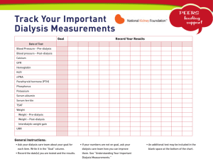 Track Your Important Dialysis Measurements