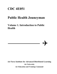 CDC 4E051 Public Health Jouneyman