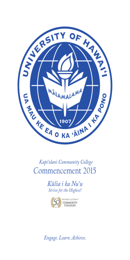 GradProgram2015 - Kapi'olani Community College