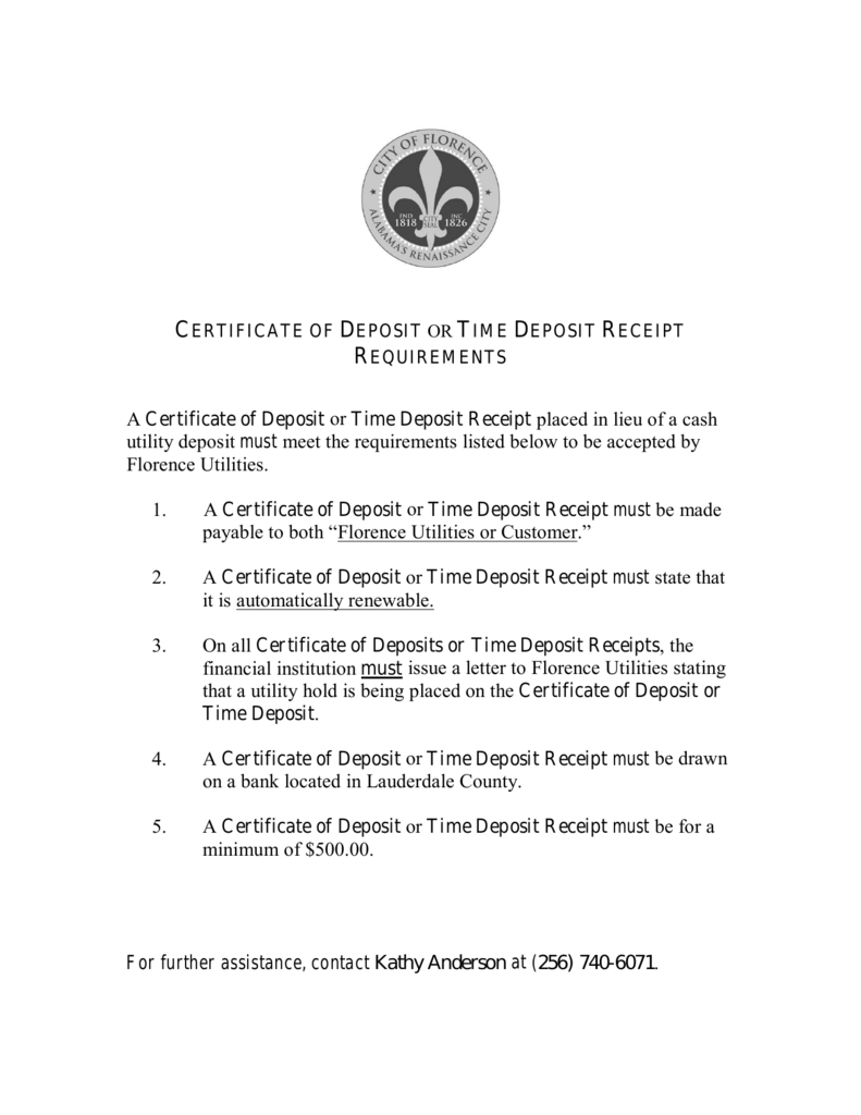Certificate of deposit or time deposit receipt requirements xflitez Images