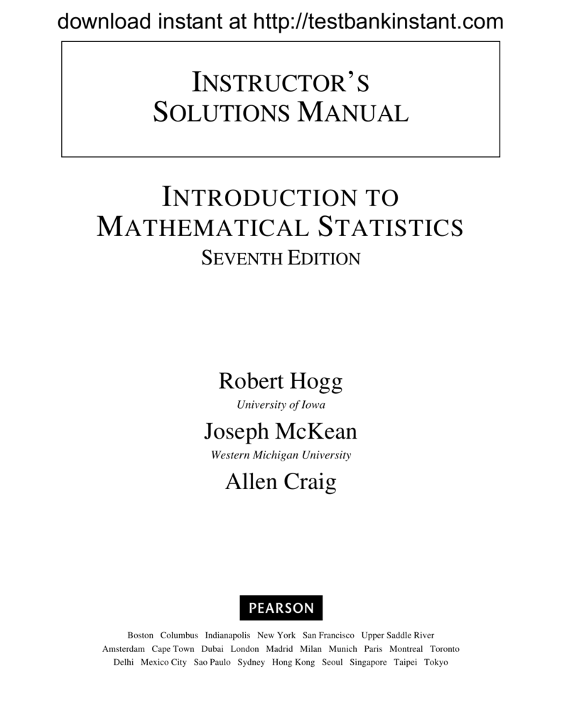 free sample of solution manual for rh studylib net