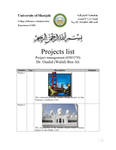 Projects list - (Walid) Ben Ali