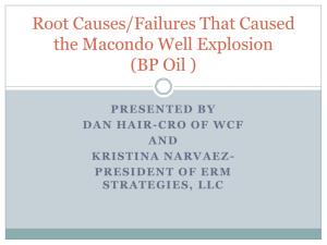 Root Causes/Failures That Caused the Macondo