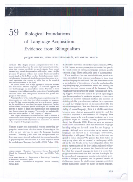 59 Biological Foundations of Language Acquisition
