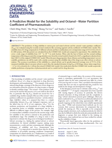 A Predictive Model for the Solubility and Octanol