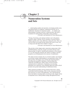Chapter 2 Numeration Systems and Sets