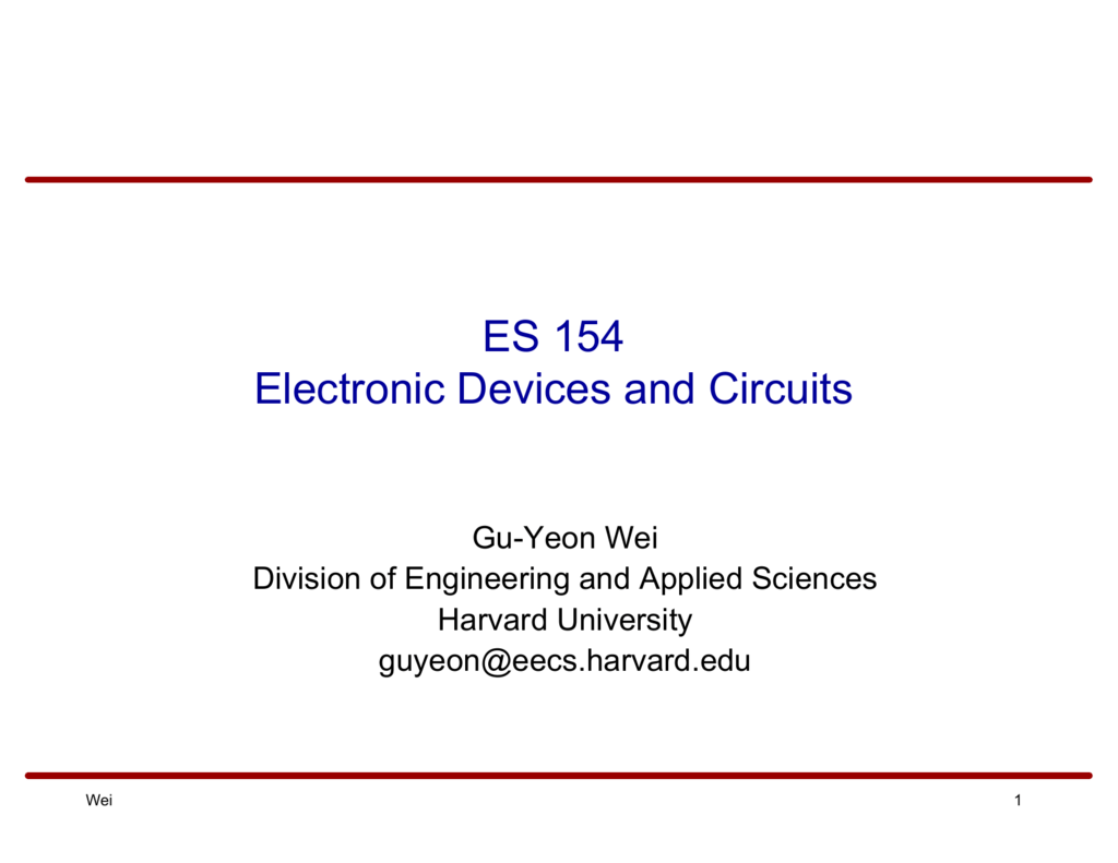 Es 154 Electronic Devices And Circuits Amplifier Circuit Diagram Analogcircuit Basiccircuit 008696194 1 5722f5ec2e31fcf99dfdc56e1cf7d66e
