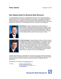 New Management Committee for Deutsche Bank Research