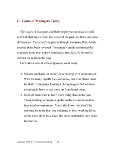 C. Issues of Managers Today