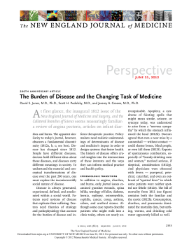 The Burden of Disease and the Changing Task of Medicine