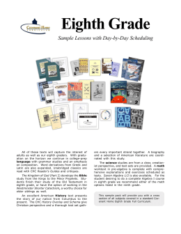 Eighth Grade - Covenant Home Curriculum