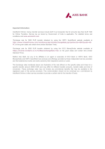 AxisRemit Online's money transfer services include EUR 5 as